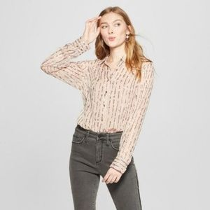 A New Day's Women's Striped Long Sleeve Shine